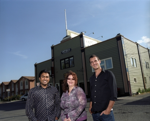 KarmaFilm Office - Anand Ramayya, Linda Nemeth (Business Affairs), Kelly Balon (Associate Producer)
